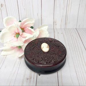 Vintage Avon Cameo Powder Trinket Jewelry Jar